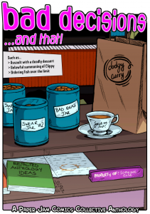 Bad Decisions comic anthology front cover