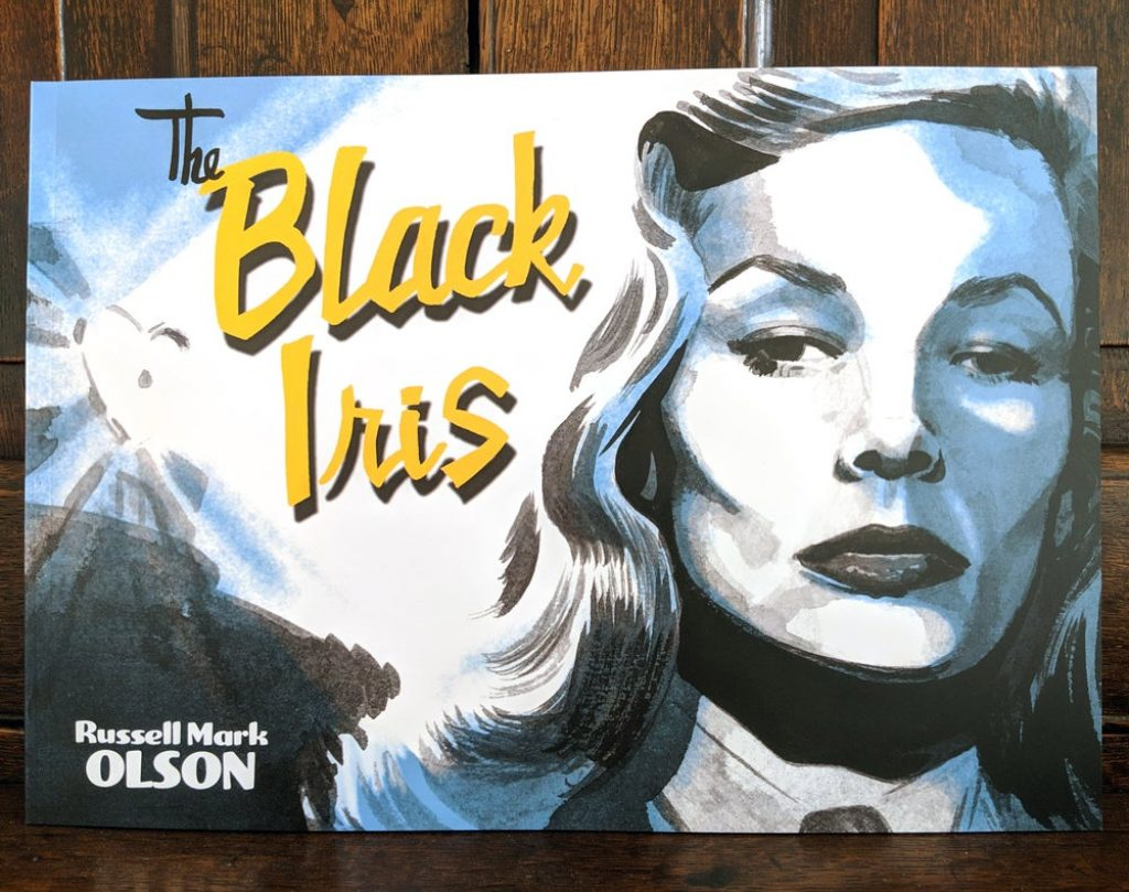 photo of the black iris comic
