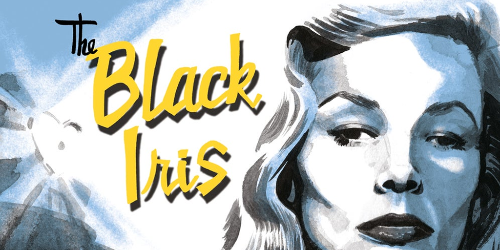 black iris comic logo